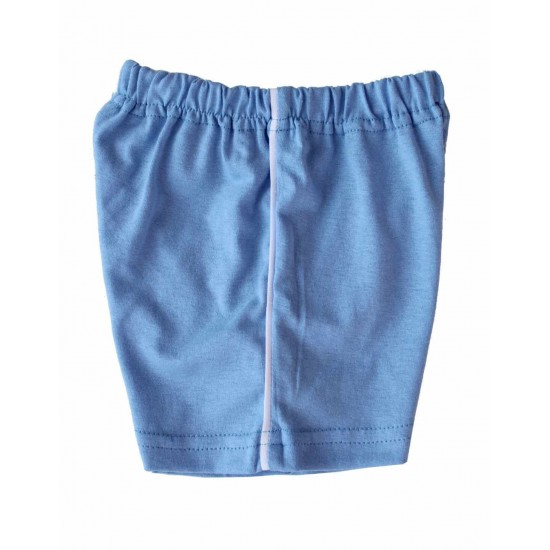Pantaloni bebe scurti bumbac Azuga bleu