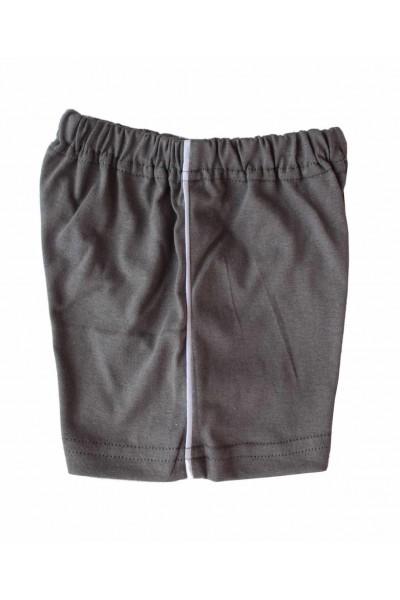Pantaloni bebe scurti bumbac Azuga gri inchis