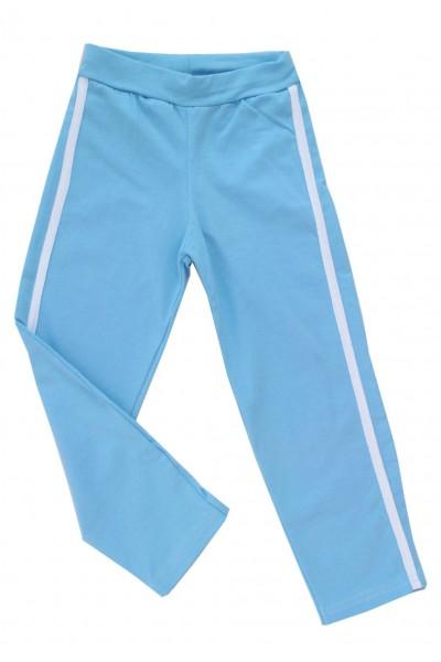 pantaloni fete bleu dunga alba