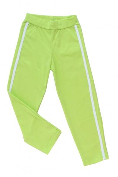 pantaloni fete vernil cu dunga alba