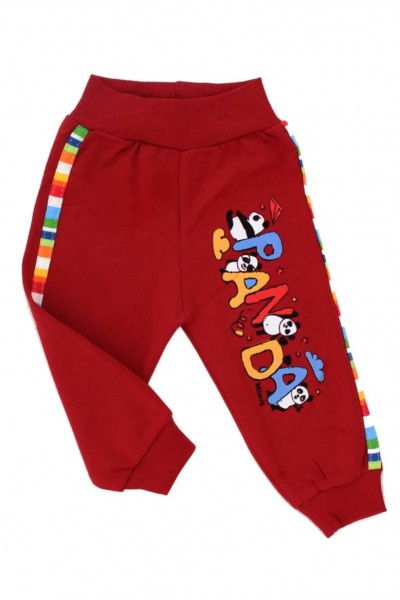 pantaloni bumbac bebe grena