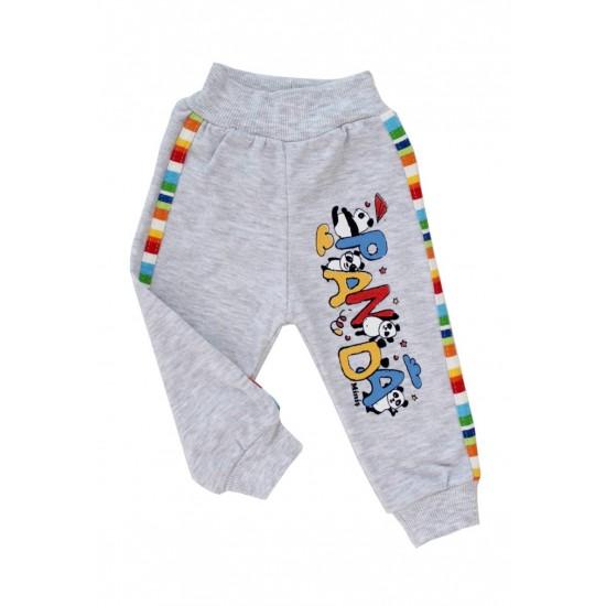 pantaloni bumbac bebe gri
