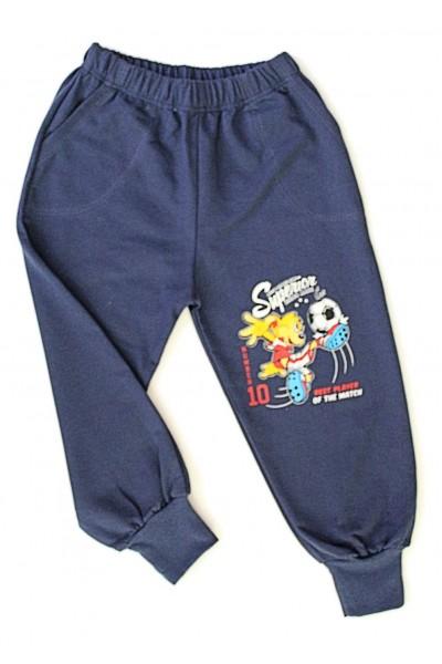 pantaloni baieti fotbalist bleumarine