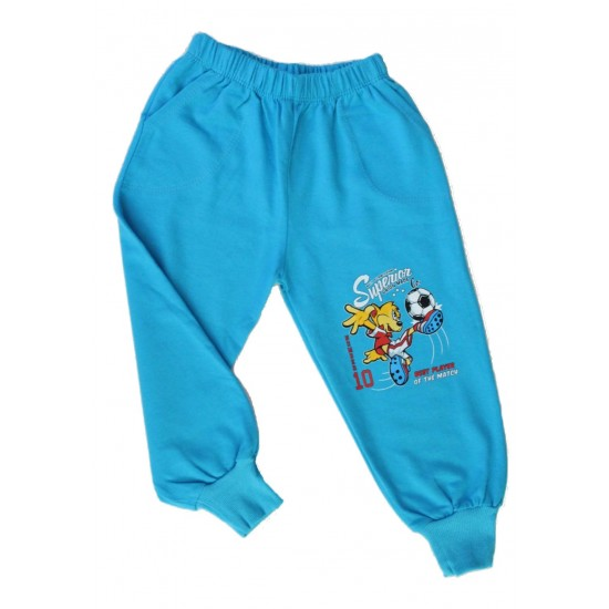 Pantaloni baieti fotbalist turcoaz