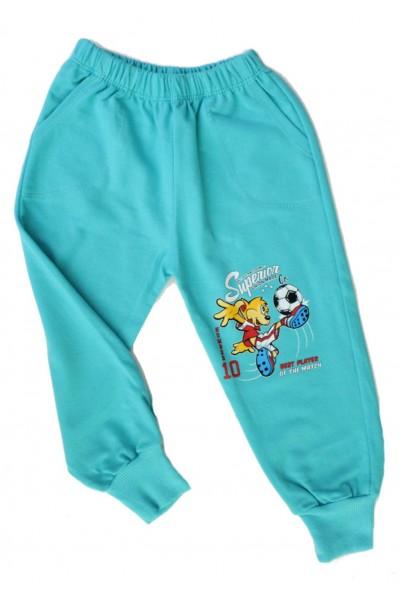 pantaloni baieti fotbalist vernil