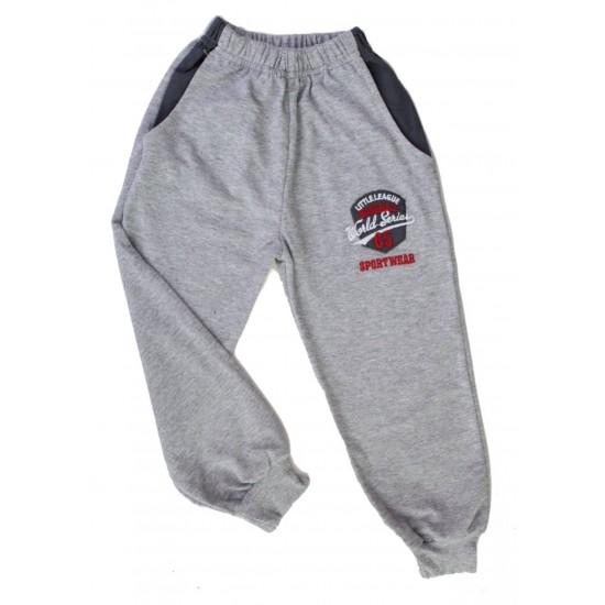 pantaloni baieti gri