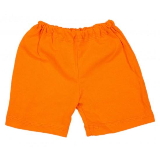 Pantaloni scurti bebe bumbac iris portocaliu