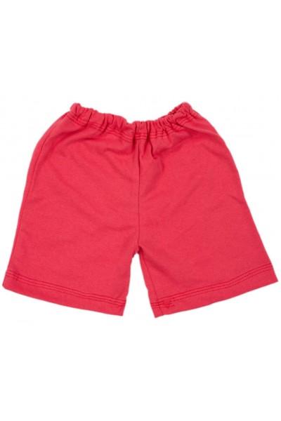 Pantaloni scurti bebe bumbac iris roz-rosu