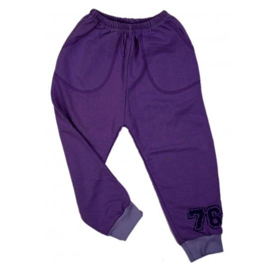 Pantaloni fete trening iris mov inchis