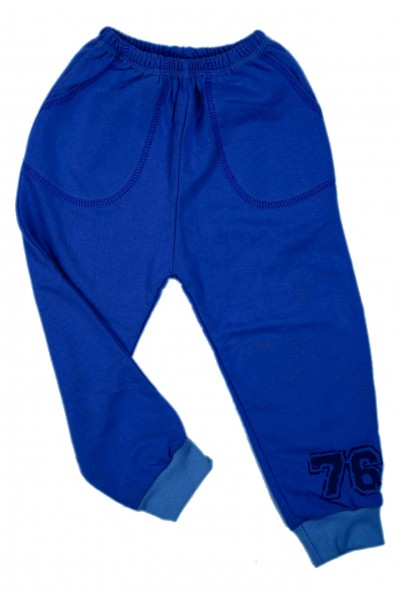 Pantaloni fete trening iris albastru electric