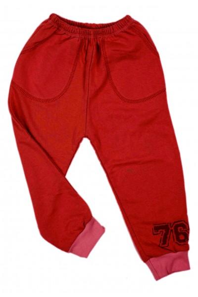 Pantaloni fete trening iris rosu