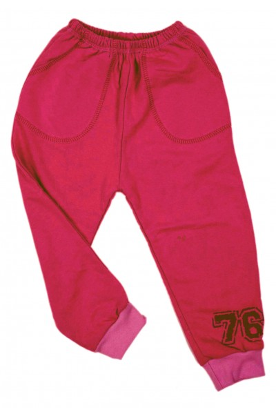 Pantaloni fete trening iris roz cyclame