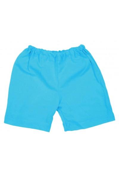 Pantaloni scurti bebe bumbac iris bleu