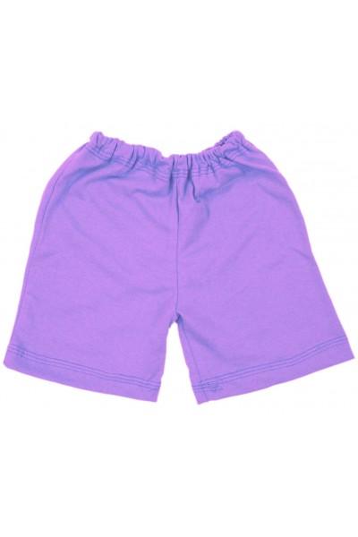 Pantaloni scurti bebe bumbac iris lila