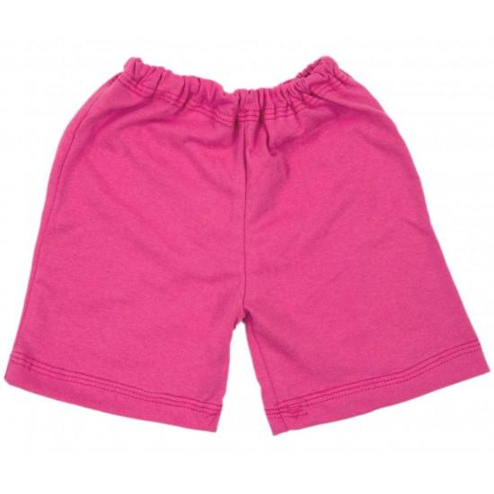 Pantaloni scurti bebe bumbac iris roz cyclame