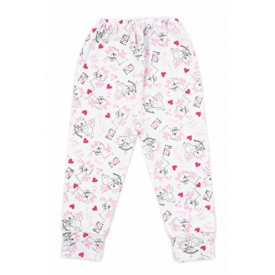 pantaloni casa bumbac subtire adonis pisici roz