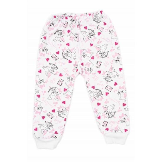 pantaloni azuga pisici roz