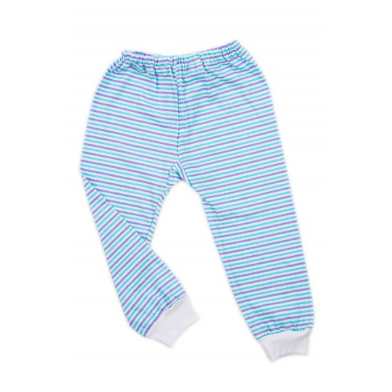 pantaloni casa bumbac subtire azuga dungi albastre