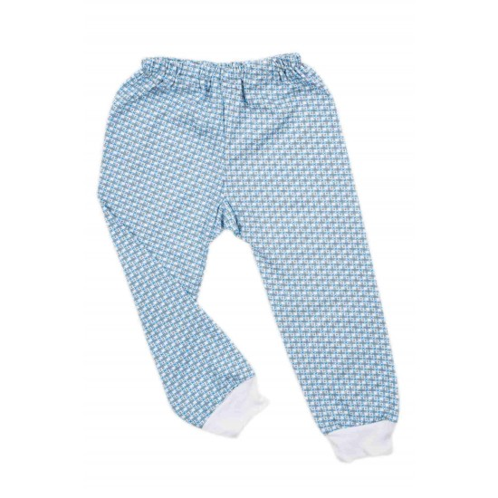 pantaloni casa bumbac subtire azuga patratele