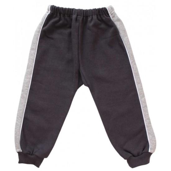 pantaloni trening vatuiti copii gri petrol insert gri