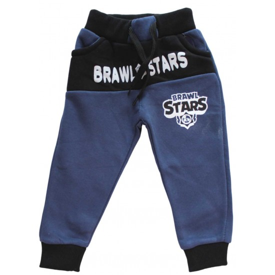 Pantaloni vatuiti Brawl stars albastrii