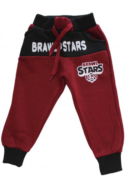 Pantaloni vatuiti Brawl stars grena