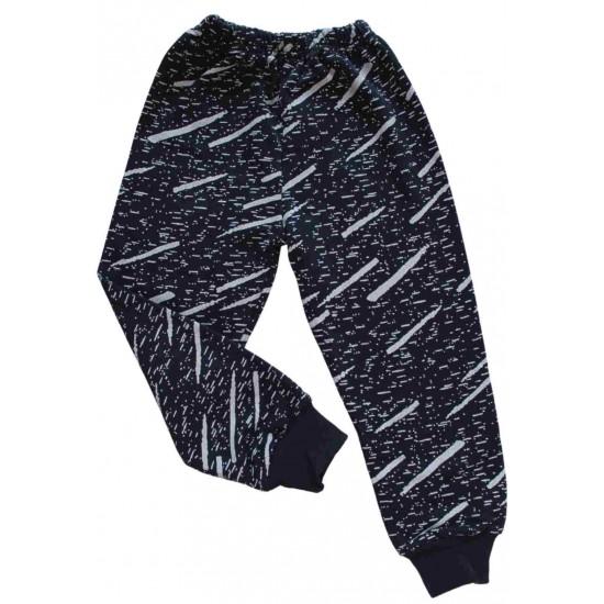 Pantaloni bleumarin dungi