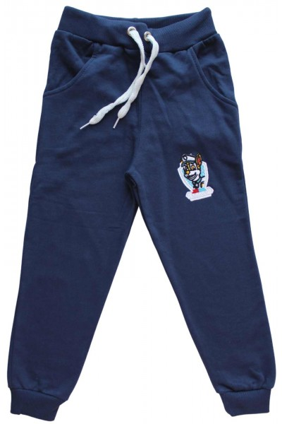 pantaloni bumbac copii  bleumarin capitan