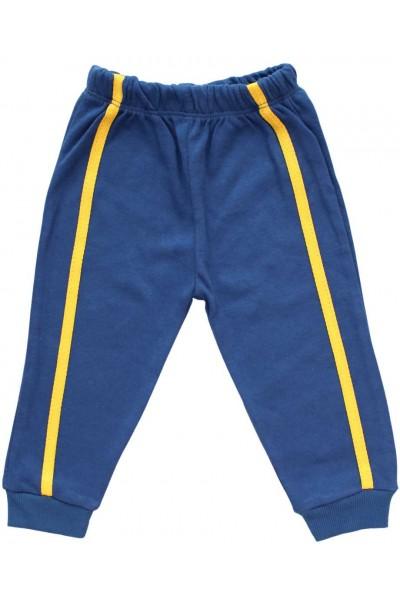 Pantaloni bumbac copii dunga galbena