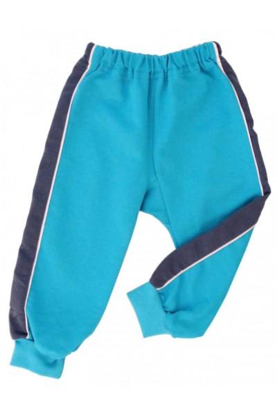 pantaloni trening azuga turcoaz insert gri