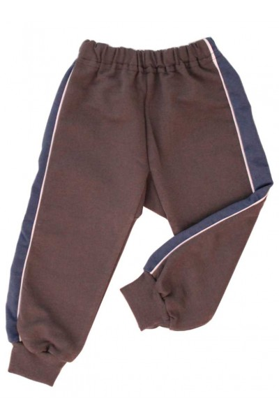 pantaloni trening azuga gri insert bleumarin