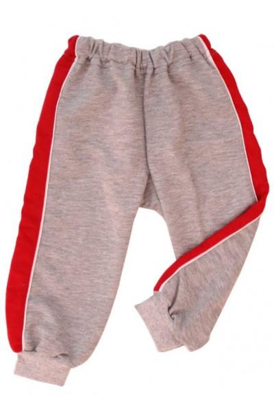 pantaloni trening azuga gri insert rosu