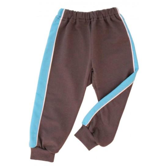 pantaloni trening azuga gri insert turcoaz