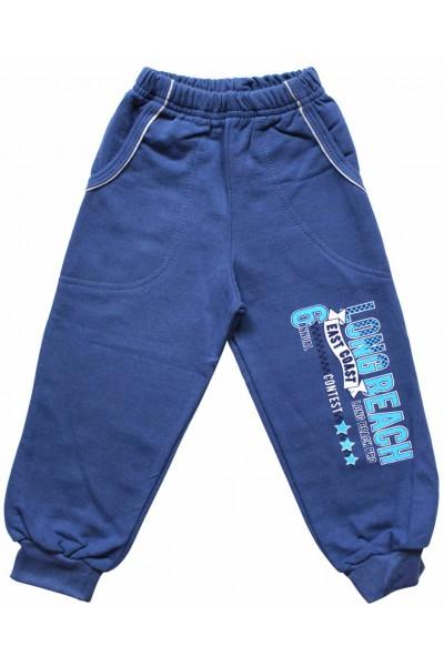 Pantaloni bumbac albastrii