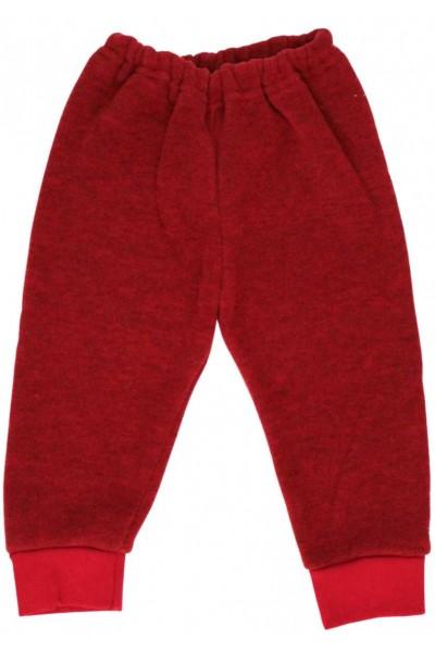 Pantaloni tricot grena