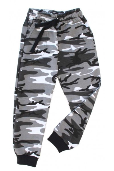 pantaloni copii army gri