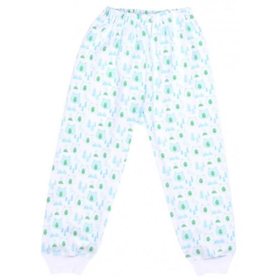 pantaloni casa bumbac cap urs verde
