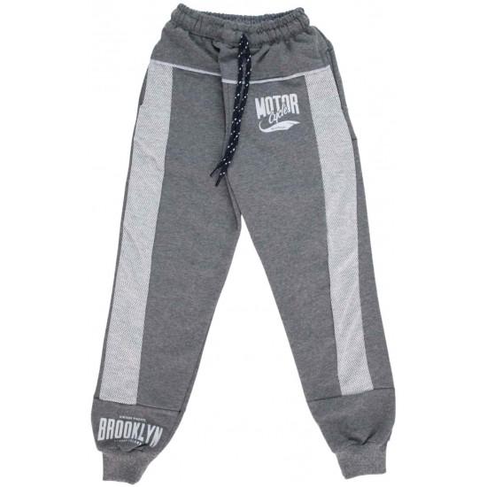 pantaloni copii gri motor