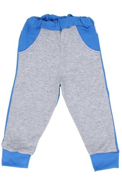 pantaloni trening copii gri albastru