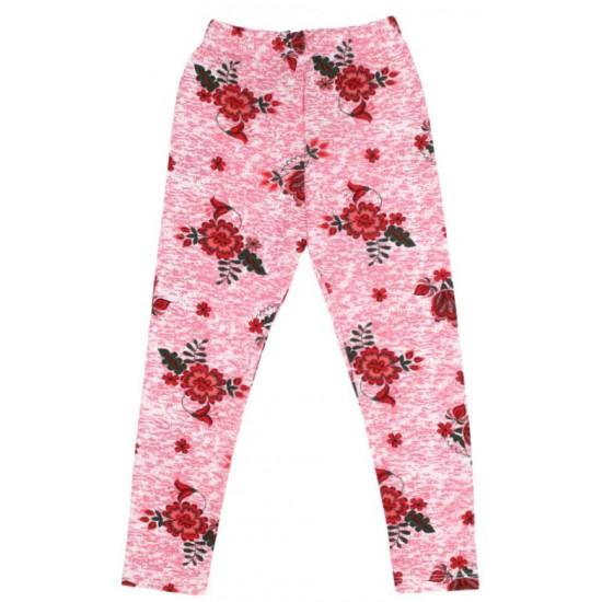 colanti fete roz imprimeu floral