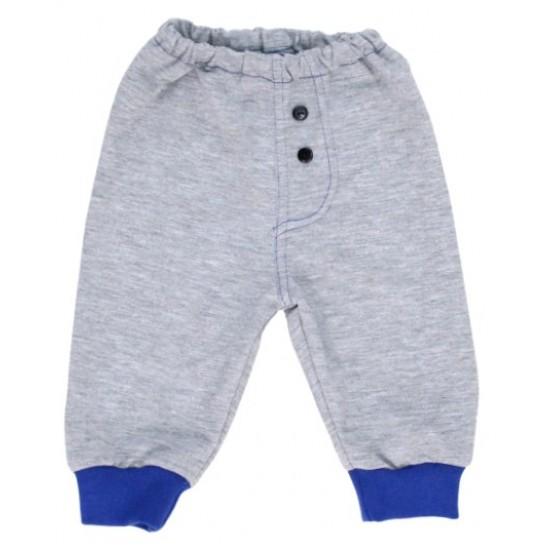 pantaloni trening gri albastru