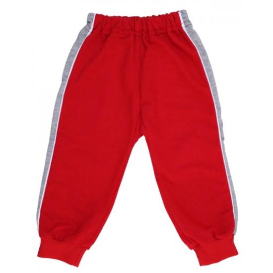 pantaloni trening copii rosi insert gri