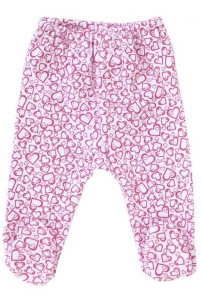 pantaloni botosel azuga inimioare roz
