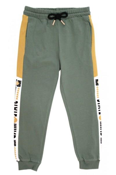 Pantaloni trening baieti state of mind verde-galben