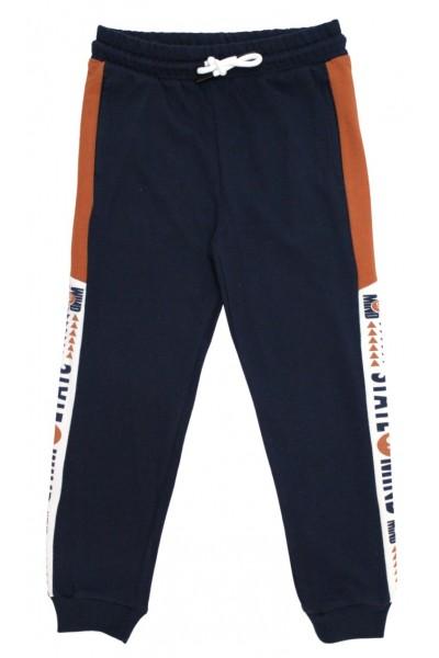 Pantaloni trening baieti state of mind bleumarin-caramiziu