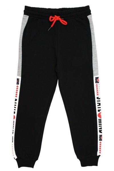 Pantaloni trening baieti state of mind negru-gri