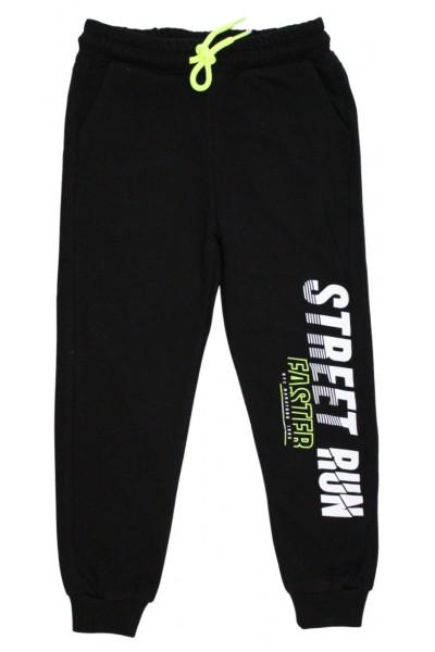 Pantaloni trening baieti street run negru-fistic