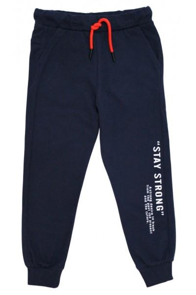Pantaloni trening baieti stay strong bleumarin