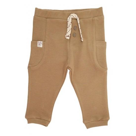 pantaloni trening copii bej buzunare