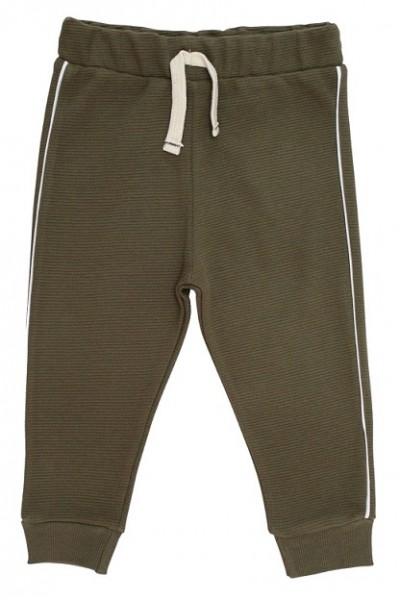 pantaloni trening copii kaki dunga alba